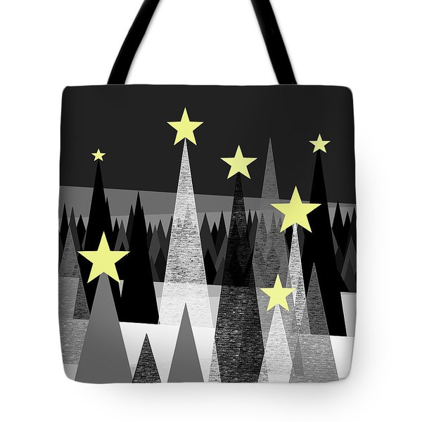 Twinkle Night Tote Bag by Val Arie