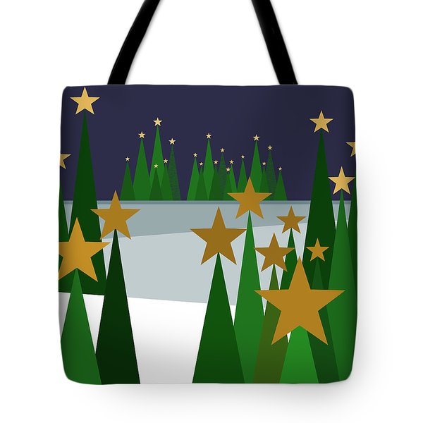 Twinkling Forest Tote Bag