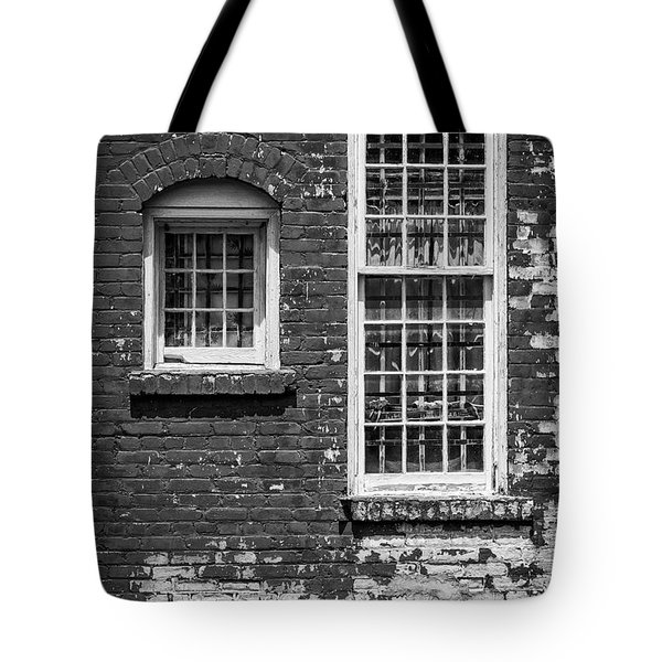 Tote Bag featuring the photograph Twins - Bw by Christopher Holmes