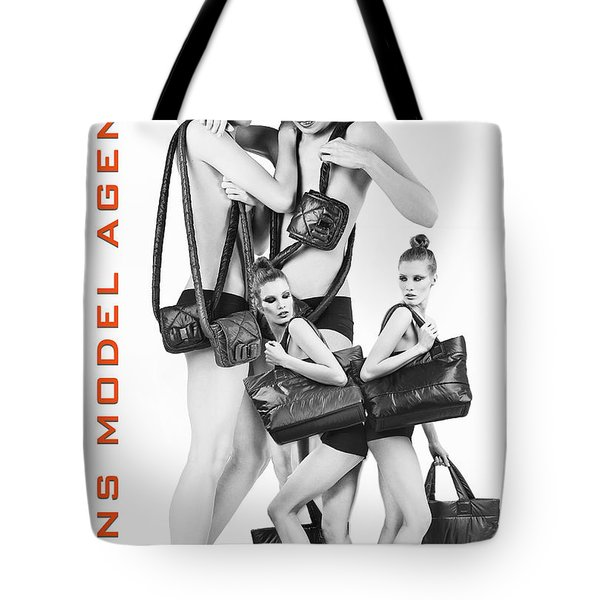 Twins Model Agency Tote Bag