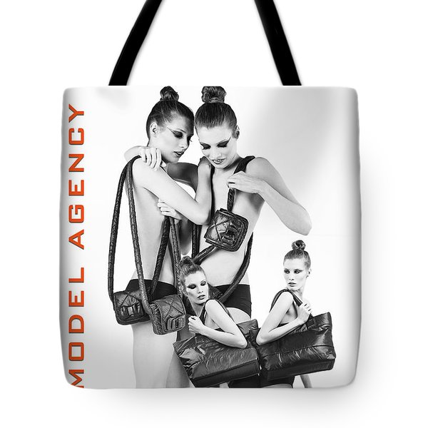 Twins Model Agency Tote Bag