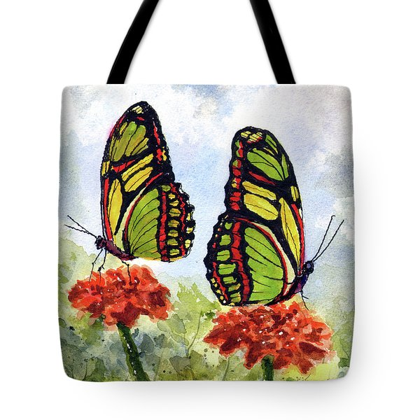 Tote Bag featuring the painting Twins by Sam Sidders