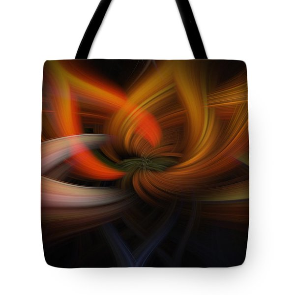 Twirl Abstract Tote Bag by Skip Tribby