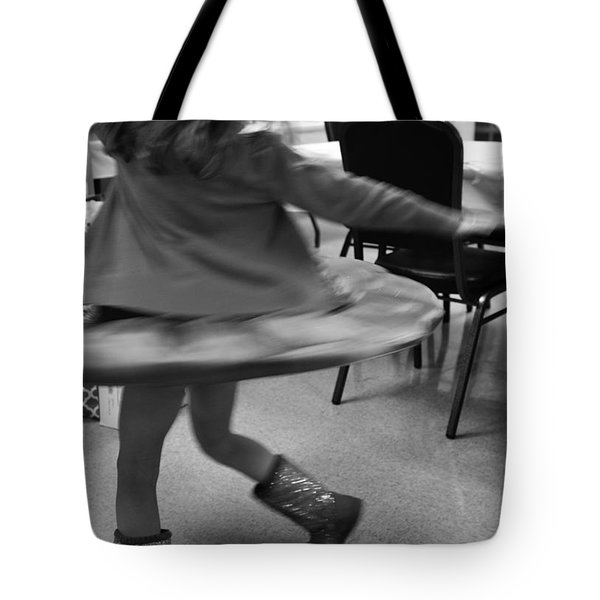 Twirling Girl  Tote Bag by Mary Ward