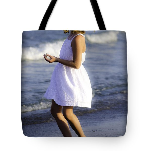 Twirling  Tote Bag by Mary Ward