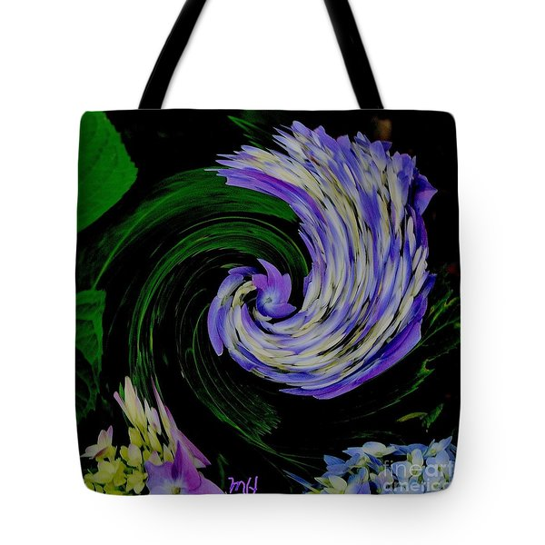 Tote Bag featuring the digital art Twirly Birdy by Marsha Heiken