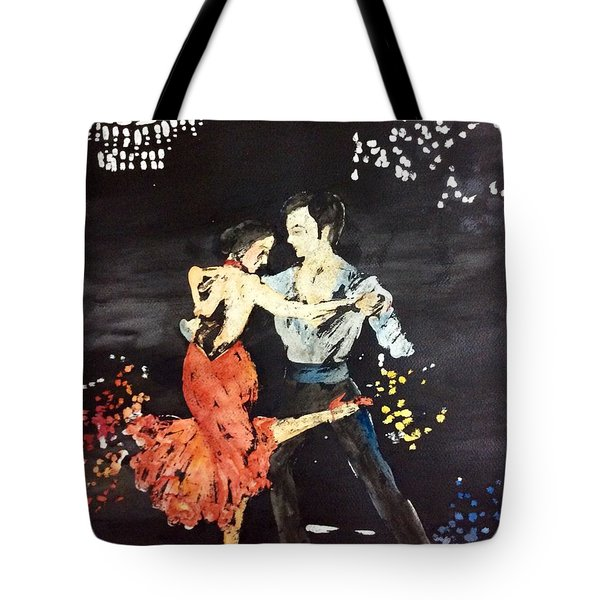 Tote Bag featuring the painting Twist by Elizabeth Mundaden