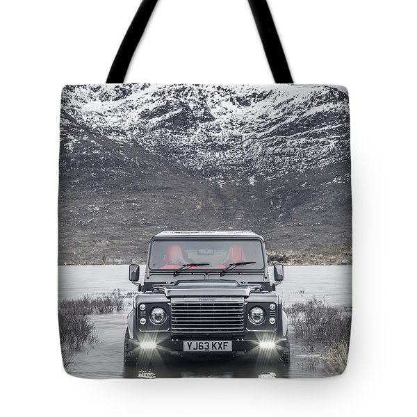 Twisted Land Rover Defender Tote Bag