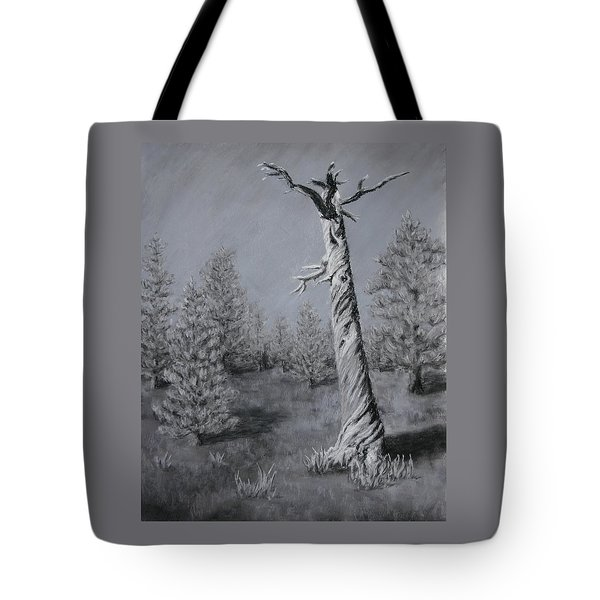 Tote Bag featuring the painting Twisted by Nancy Jolley