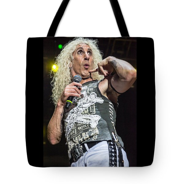 Tote Bag featuring the photograph Twisted Sister - Dee Snider by Stefan Nielsen