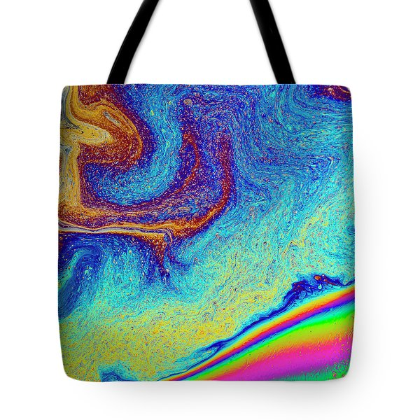 Tote Bag featuring the photograph Twisted Soap Film by Jean Noren