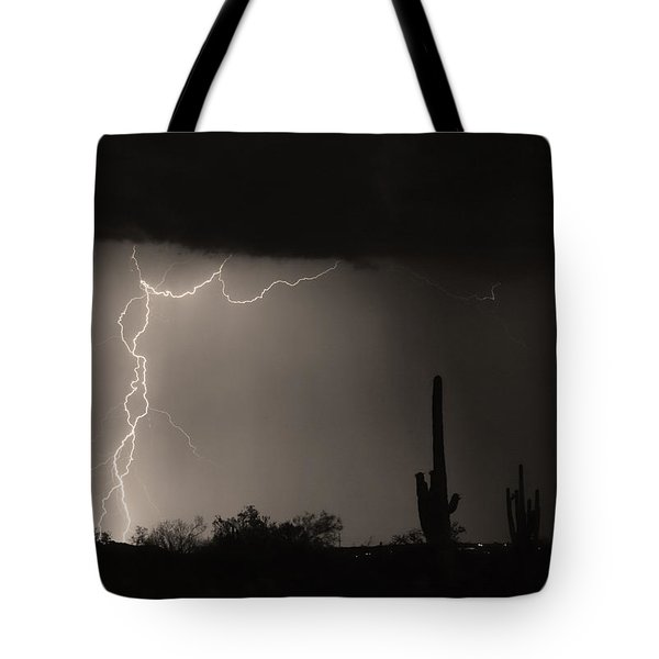Twisted Storm - Sepia Print Tote Bag by James BO  Insogna