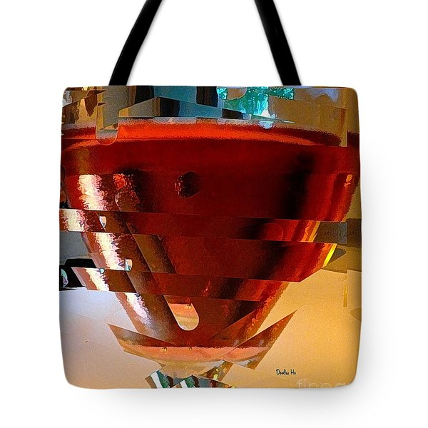 Twisted Wine Glass Tote Bag