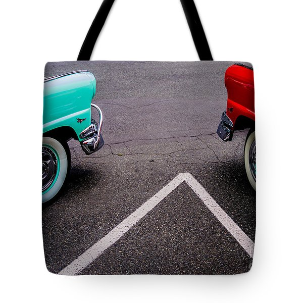 Tote Bag featuring the photograph Two 1958 Ford Crown Victorias by M G Whittingham