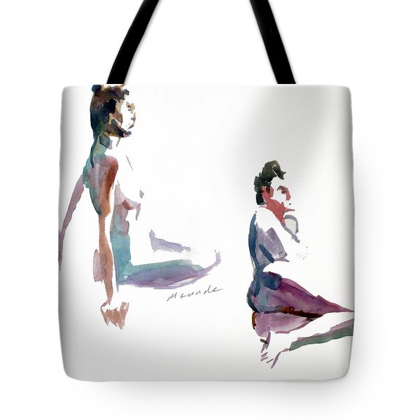 Two, 5 Minute Poses Tote Bag by Mark Lunde