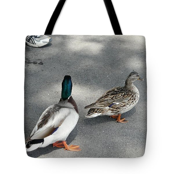 Two And Two Tote Bag by Valerie Ornstein