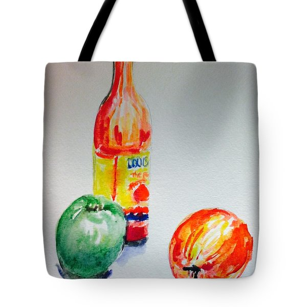 Two Apple And Hot Sauce  Tote Bag