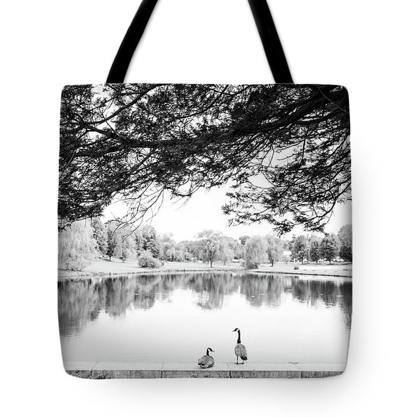 Tote Bag featuring the photograph Two At The Pond by Karol Livote