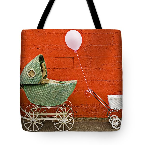 Two Baby Buggies  Tote Bag by Garry Gay