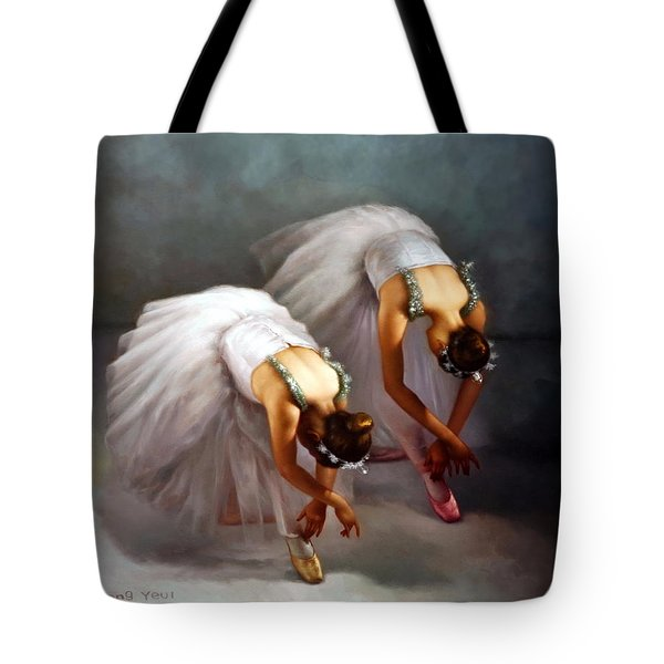 Two Ballerinas Tote Bag