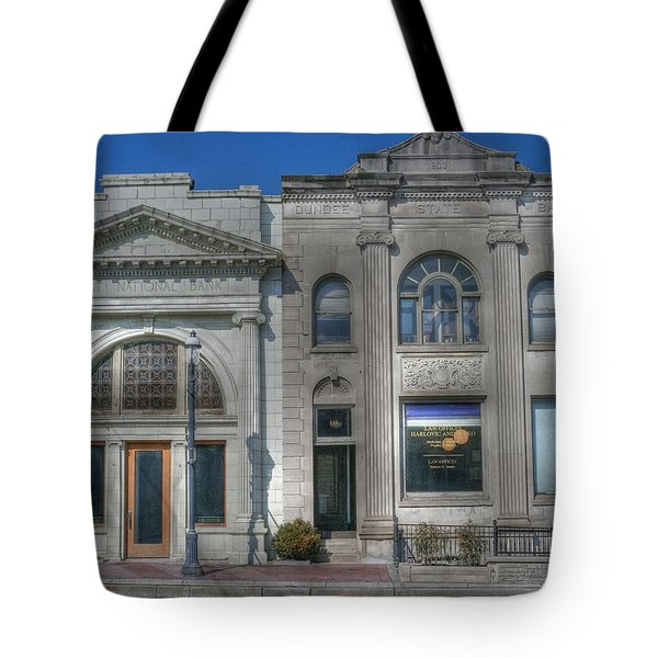 Two Banks Tote Bag by David Bearden