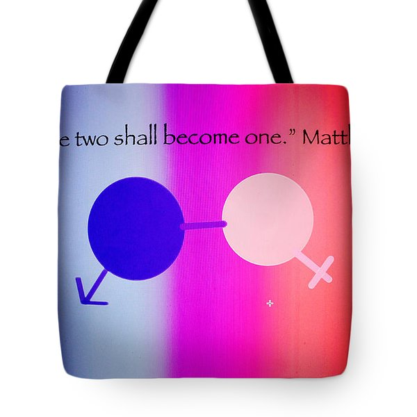 Two Become One Tote Bag by Raul Diaz