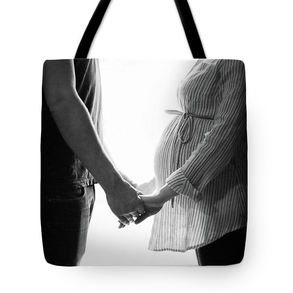 Two Becomes Three Tote Bag