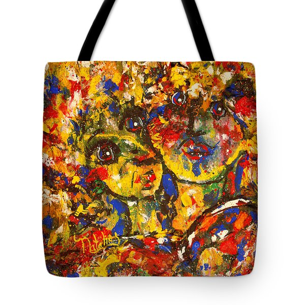 Two Best Friends Tote Bag by Natalie Holland