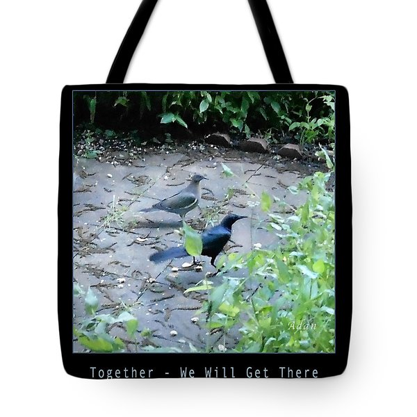 Tote Bag featuring the photograph Two Birds Blue by Felipe Adan Lerma
