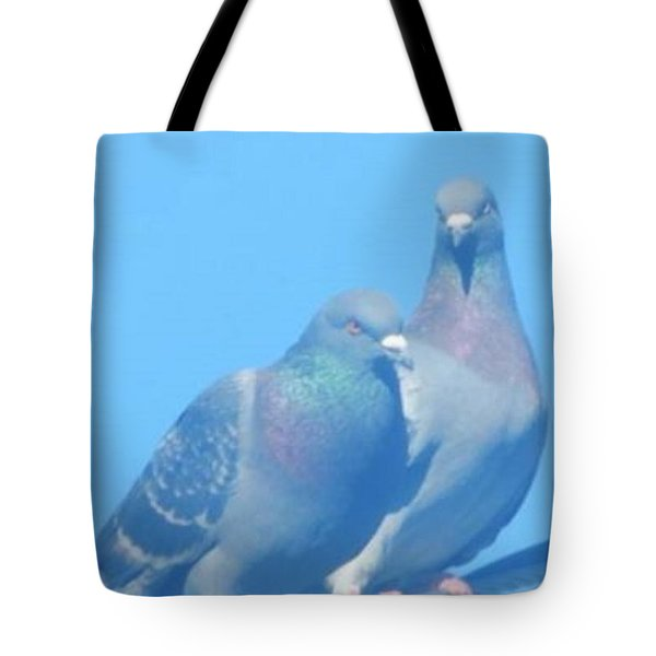 Two Birds In Spring Tote Bag