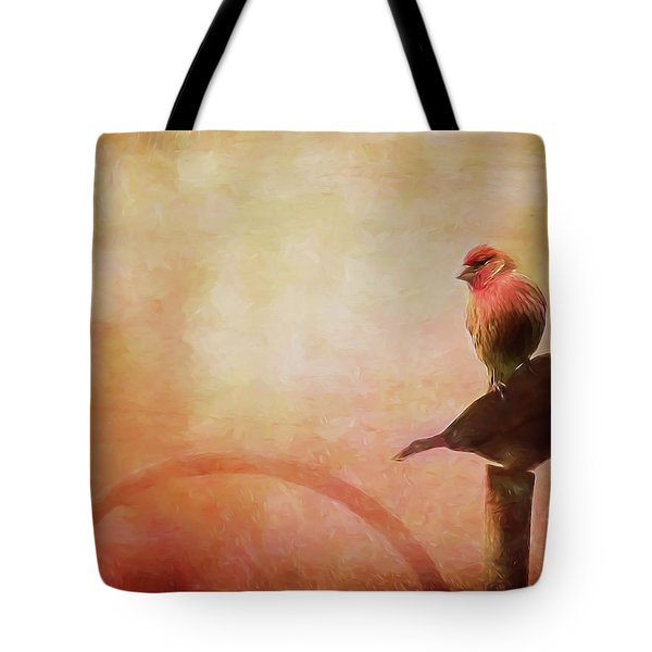 Two Birds In The Mist Tote Bag