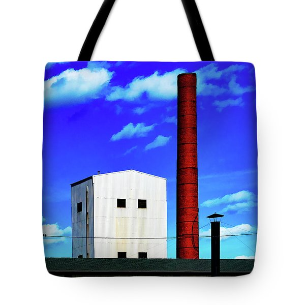 Tote Bag featuring the photograph Two Birds On A Wire In Paterson by Chris Lord