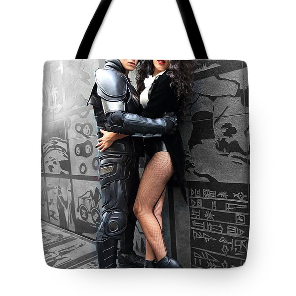 Two Birds. Robin And Penguin Tote Bag