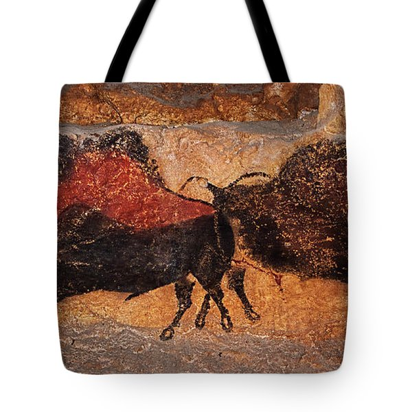 Two Bisons Running Tote Bag