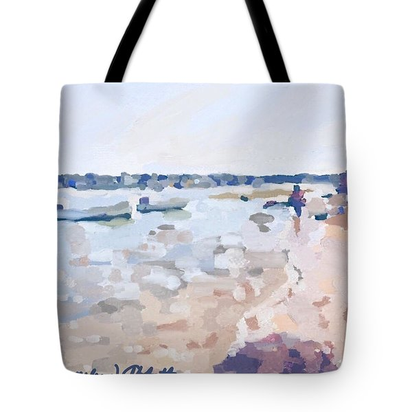 Two Boats At Ten Pound Island Beach Tote Bag