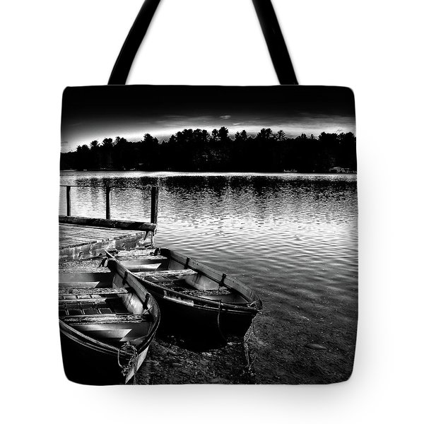 Tote Bag featuring the photograph Two Boats by David Patterson