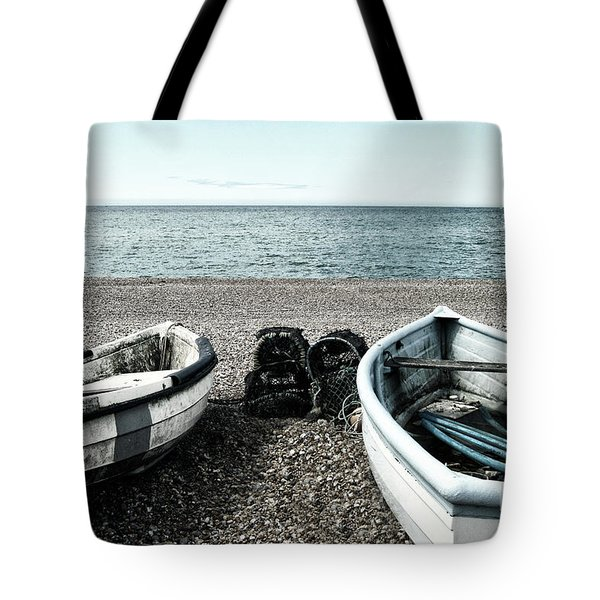 Two Boats On Seaford Beach Tote Bag