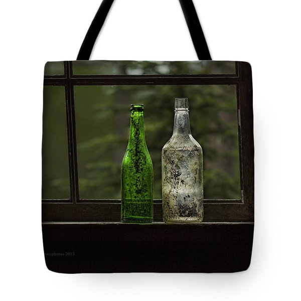 Two Bottles In Window Tote Bag