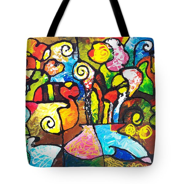 Two Bouquets Tote Bag