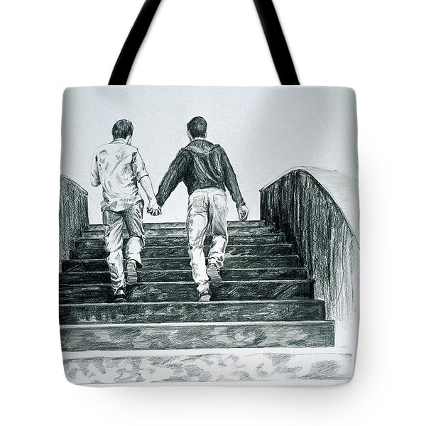 Two Boys Tote Bag