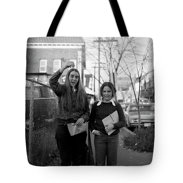 Two Brown Students, Thayer Street, Providence, 1972 Tote Bag