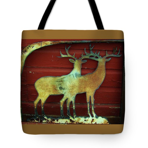 Tote Bag featuring the photograph Two Bucks 1 by Larry Campbell