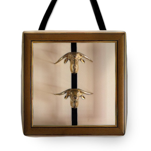 Two Bull Heads Tote Bag