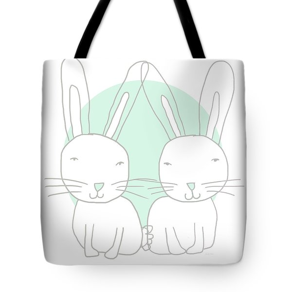 Two Bunnies- Art By Linda Woods Tote Bag