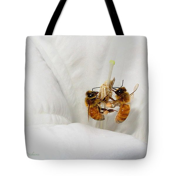 Tote Bag featuring the photograph Two Busy by Joyce Dickens
