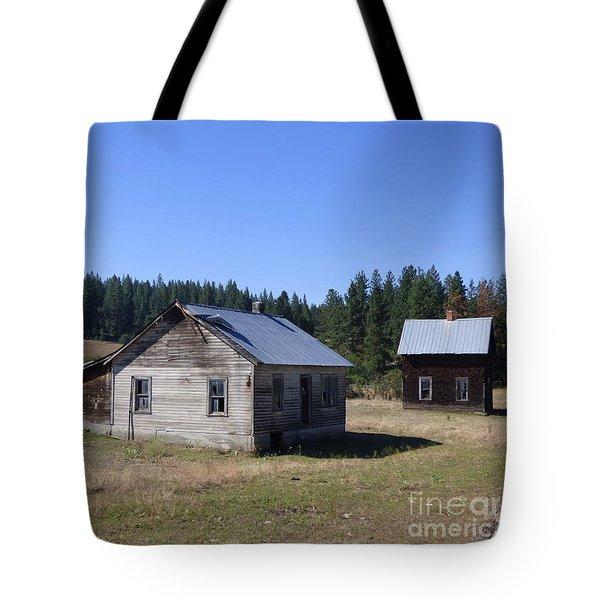 Two Cabins At Fruitland Tote Bag