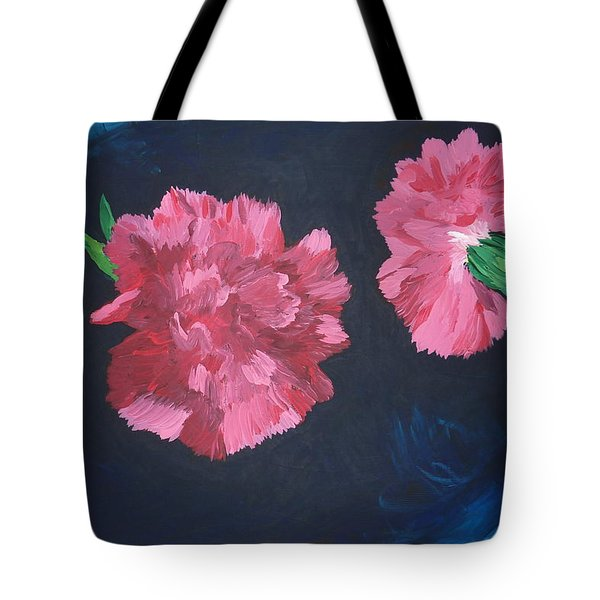 Tote Bag featuring the painting Two Carnations by Joshua Redman