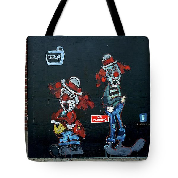 Tote Bag featuring the photograph Two Clowns by JoAnn Lense