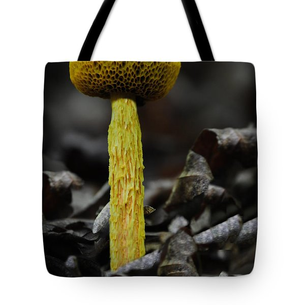 Two Colored Bolete Tote Bag by Eric Liller