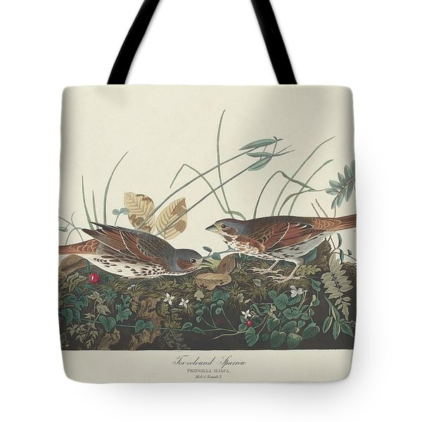 Two-colored Sparrow Tote Bag by Rob Dreyer